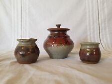 Magnolia  Art Pottery Sugar Bowl  Vase Variety Bowls FREE SHIPPING