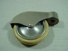 1 x Möbelrolle 50er Jahre Rolle für Möbel,Teewagen o.ä. 76 mm Durchmesser weiß.
