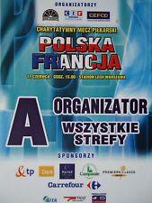 TICKET Organistor 11.6. ? Polska Polen - France Frankreich