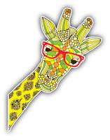 Funny Giraffe Head Car Bumper Sticker Decal 4'' x 5''