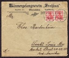 GERMANY 1911 Glee Club Advertising Cover Oberlahnstein to Saint Louis MO
