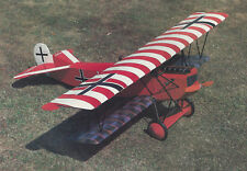 1/7 Scale German WW-I Fokker D-VII Biplane Plans, Templates, Instrucions 53ws