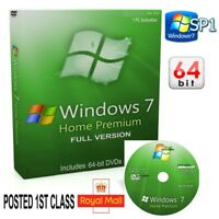 Windows 7 Home Premium 64 DVD SP1 Full Version Install & Activation Product Key