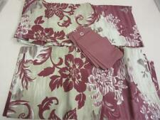 """JCPenney Home Sabine 84"""" Curtain Pair Burgundy and Tan Floral with Tiebacks"""