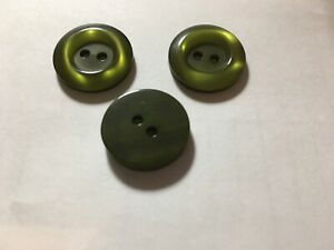NEW 25 3//8  INCH LIME GREEN PEARL FINISH BUTTON 2 HOLE W//RIM