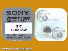 50x Sony 335 V335 Célula de Botón Sr512sw plata 1.55 V relojes Baterías