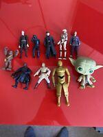 10x Hasbro 2000+ Star Wars Action Figures Bundle job lot - STAR WARS - (14)