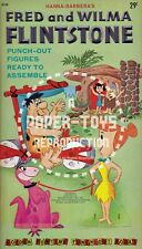 VINTAGE REPRINT - 1961 FRED AND WILMA FLINTSTONE PUNCH-OUT BOOK - REPRODUCTION