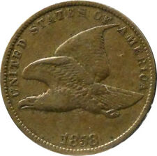 1858 Flying Eagle Cent XF Condition - bme