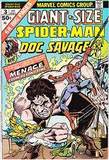 GIANT SIZE SPIDERMAN 3 - DOC SAVAGE APP (BRONZE AGE 1975) - 7.5