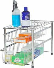 Kitchen Rack Stack able Sliding Basket Space Saver Can Organizer Drawer Metal