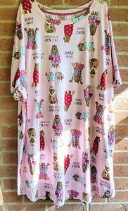 New Bearly Awake Bear Nightgown Sleepshirt Sz 2X - 3X Secret Treasures Pockets