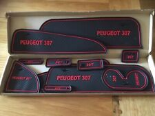 PEUGEOT 307  INTERIOR DASHBOARD MAT GATE PAD TRIM SET - RED ONLY