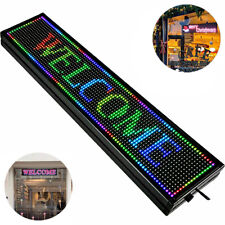 40 X 8 Led Sign Programmable Scrolling Message Board Full Color P10 Indoor