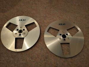 "2 x Akai 7"" Metal Reel To Reel Tape Spools - 1p NO RESERVE"