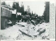 1940 World War II Broken-Down Russian Supply Train Original Wirephoto