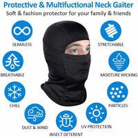 2×Neck Gaiter Scarf Breathable Bandana Face Cover Balaclava Headwear