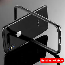 For iPhone Xs Max XR Bumper Case Aluminum Metal Frame Armor Cover Rugged Silicon