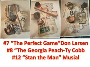 Product Exposure MLB 1993 Stan Musial, Ty Cobb, Don Larsen NEW