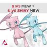 Pokémon Sword & Shield - 6 IVS MEW + SHINY MEW pack