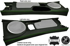 GREEN  STITCHING CENTRE CONSOLE LEATHER COVER FITS MAZDA MX5 MK3 3.5 2009-2015