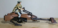 VINTAGE 1995 ENDOR SPEEDER BIKE w/LEIA ORGANA RIDER BY TONKA FOR STAR WARS POTF