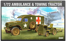 (1/72) 13403 AMBULANCE & TOWING TRACTOR  ACADEMY HOBBY MODEL KITS