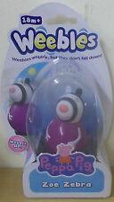 Peppa Pig Weebles Series 3 ~ Zoe Zebra Wobbily Figure
