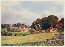 Quainton village, Buckinghamshire, Sutton Palmer vintage print in mount SUPERB