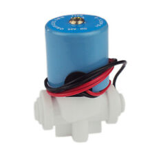 """DC 24V 1/4"""" N/C Plastic Inlet Solenoid Valve for RO Reverse Osmosis Pure System"""
