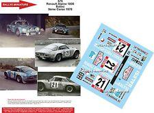 DÉCALS 1/18 réf 575 Renault Alpine 1800  Balesi 9ème Tour de Corse 1978
