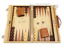 "15"" Wood Backgammon Set - Olive Burl - Classic Wooden Board Game"