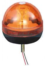 LED AMBER ORANGE BEACON 1 SINGLE BOLT 12V / 24V RECOVERY FLASHING WARNING LIGHT