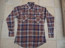 Vintage The Gap Plaid Western Rockabilly Pearl Snap Men's shirt Size S