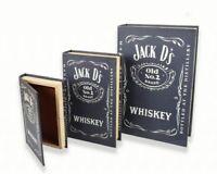 Jack Daniels Book Storage Box Decor Vintage Retro Whiskey Whisky Bar Man Cave