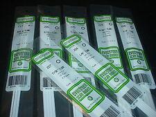 "Evergreen Styrene Round Hollow 14"" Tube & Solid Rod Plastic Assortment 7 packs"