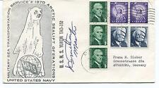 1970 Yukon TAO 152 Military Sea Transportation Sealift Polar Arctic Cover SIGNED
