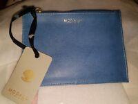 Modalu Denim blue Leather Pouch Bnwt
