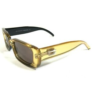 Gucci Sunglasses GG2409/N/S 1NR Clear Gold Black Rectangular with Red Lenses 135