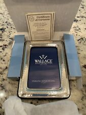 """Vintage Wallace STERLING SILVER Traditional 3.5"""" x 5"""" Picture Frame In Box"""