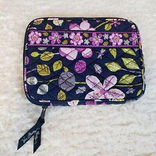 Vera Bradley Purple Black Floral Ipad Mini Kindle Ebook Reader Sleeve Case Cover