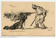 WW1 . illustrateur . Atrocités Allemande . LA FAIM . German Atrocity . HUNGER