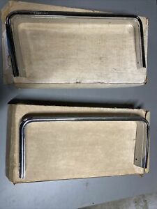 1973 Oldsmobile Cutlass Supreme Grille Opening Moldings Left And Right NOS