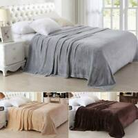 Luxury Throw Flannel Blanket Single Double King Soft Warm Blanket Sofa Bed
