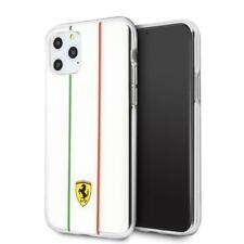 Ferrari Funda Rígida PC / De TPU Con Italiano Bandera Rayas IPHONE 11 Pro Claro
