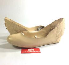 NEW 5 adidas JEREMY SCOTT Womens Js Wings Ballerinas Dune/Running White Q23666