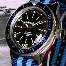 Vostok anfibio, RETTILI Custom RUSSO AUTOMATICO DIVE WATCH, nuovo, inscatolato, UK Venditore
