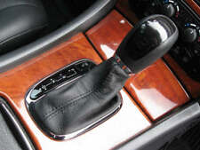 Se adapta a Mercedes Clase C W203 Auto Cuero Gear Polaina Gris