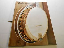 VINTAGE MUSICAL INSTRUMENT CATALOG #10237 - FENDER BANJOS (301 1072)