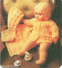 "Doll Clothes Knitting Pattern For The  23"" Doll 4 Piece Outfit Hooded Sweater &"